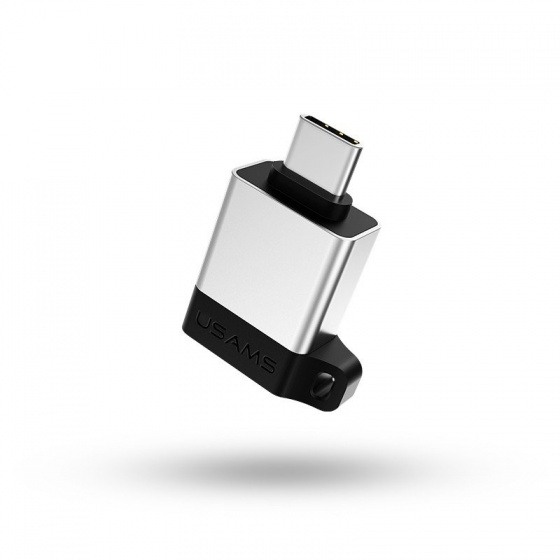 Bộ chuyển đổi mở rộng OTG đầu Type C sang USB 3.0 USAMS US-SJ186 A1 (Silver)