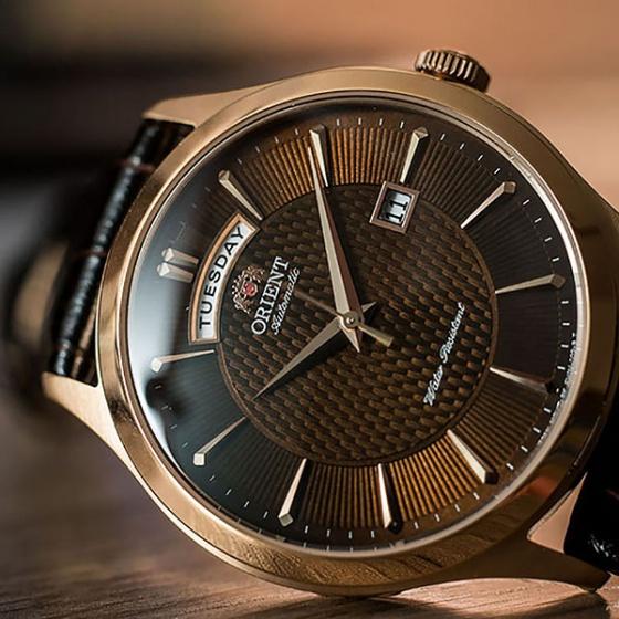 Đồng hồ nam Orient FEV0V002TH chính hãng (full box + sổ bảo hành toàn quốc 3 năm) mặt kính chống xước - chống nước - dây da cao cấp