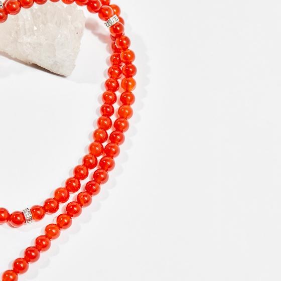 Chuỗi 108 hạt viên đá mã não đỏ 6mm mệnh hỏa, thổ - Ngọc Quý Gemstones