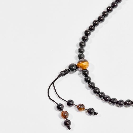 Chuỗi 108 hạt viên đá obsidian 6mm mệnh thủy, mộc - Ngọc Quý Gemstones