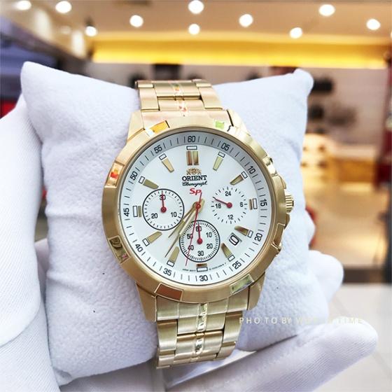 Đồng hồ nam Orient FKV00002W0 chính hãng (full box + sổ bảo hành toàn quốc 3 năm) mặt kính chống xước - chống nước - dây thép 316l