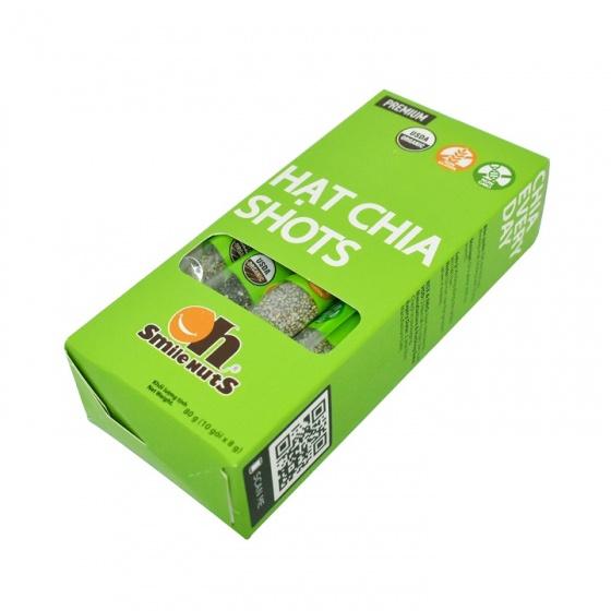 Hạt chia shots hữu cơ Smile Nuts gói nhỏ tiện dụng 8g x 10 gói - Organic Chia Seed Shots 8g x 10 bag