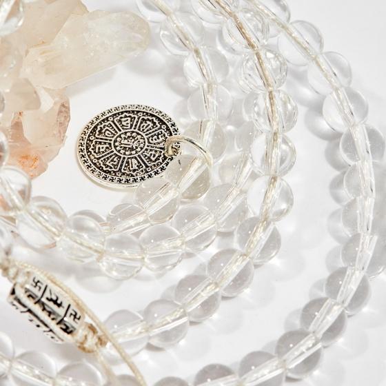 Chuỗi 108 hạt đá thạch anh trắng 6mm mệnh thủy, kim - Ngọc Quý Gemstones