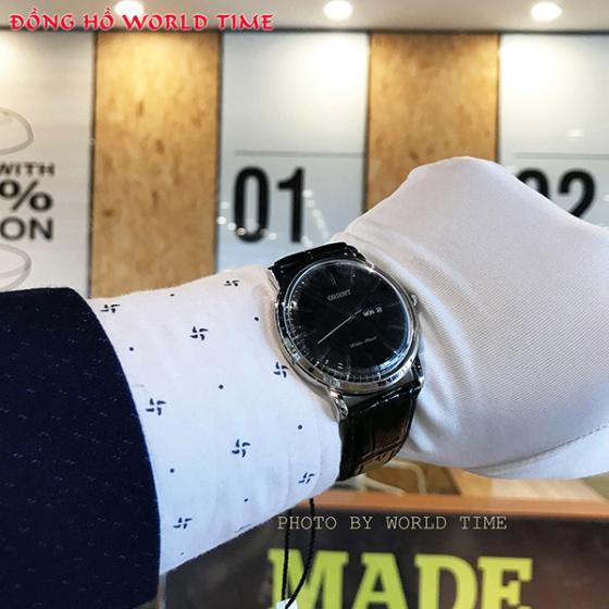 Đồng hồ nam Orient FUG1R002B6 chính hãng (full box + sổ bảo hành toàn quốc 3 năm) mặt kính chống xước - chống nước - dây da cao cấp