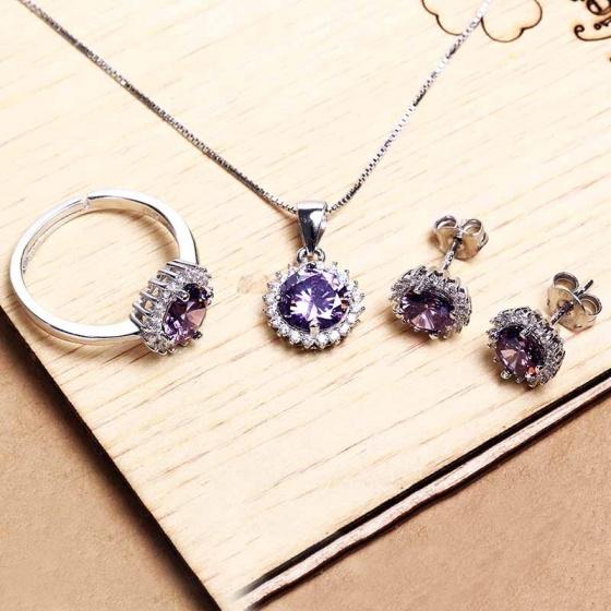 Bộ trang sức bạc Lucky Love - Eropi Jewelry