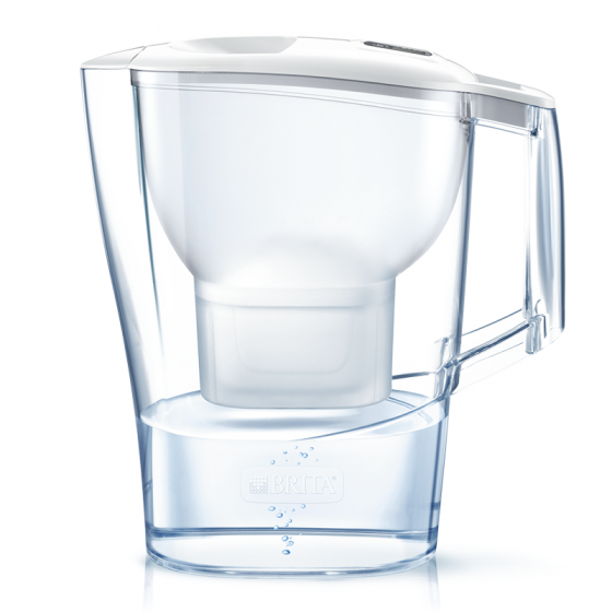 Bình lọc nước Brita Aluna Cool White - 2.4L (kèm Maxtra Plus)