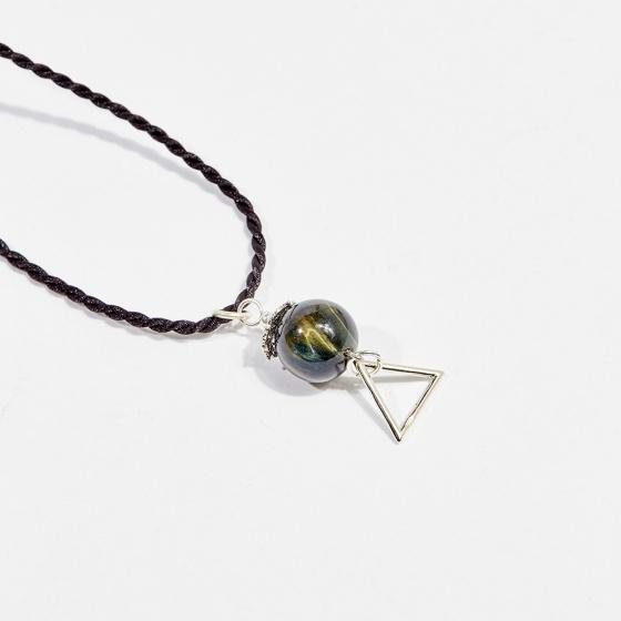 Dây chuyền phong thủy đá mắt hổ xanh đen 1.2cm mệnh thủy, mộc - Ngọc Quý Gemstones