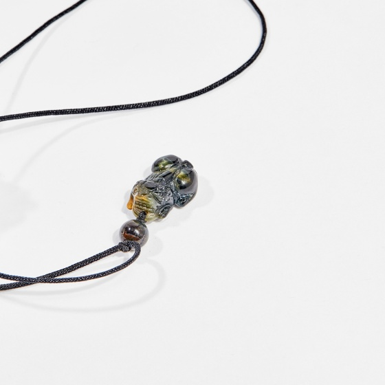 Dây chuyền phong thủy đá mắt hổ xanh đen tỳ hưu 2cm mệnh thủy, mộc - Ngọc Quý Gemstones