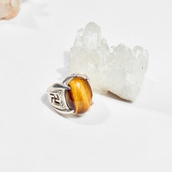 Nhẫn bạc nam đá mắt hổ (ni21-ni23) mệnh thổ, kim - Ngọc Quý Gemstones