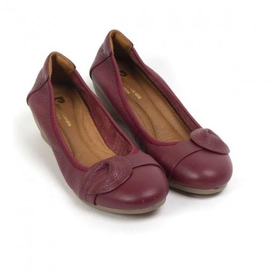 Giày búp bê cao gót Pierre Cardin - PCWFWLB021RED màu đỏ