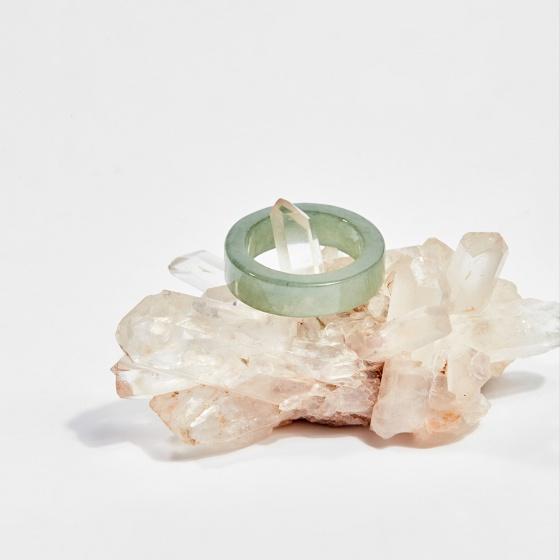 Nhẫn đá cẩm thạch nước ngọc (ni16-ni18) mệnh hỏa, mộc - Ngọc Quý Gemstones