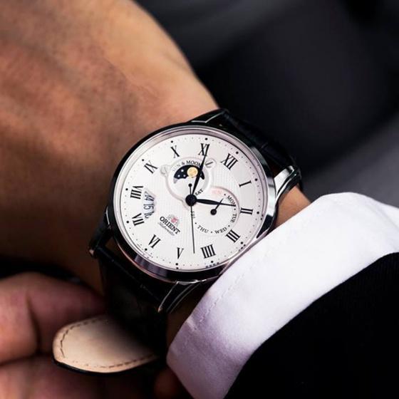 Đồng hồ nam Orient SET0T002S0 chính hãng (full box + sổ bảo hành toàn quốc 3 năm) automatic mặt kính chống xước - chống nước - dây da cao cấp