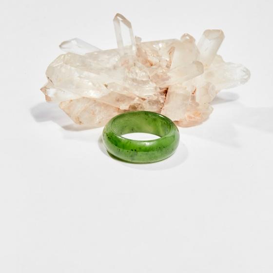 Nhẫn đá ngọc bích (ni16-ni18) mệnh hỏa, mộc - Ngọc Quý Gemstones