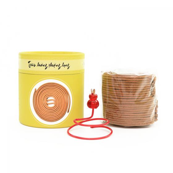 (Mua 1 tặng 2) nhang vòng trầm loại cao cấp - 100g - 48 vòng - tặng kèm phụ kiện gỗ + đế cắm