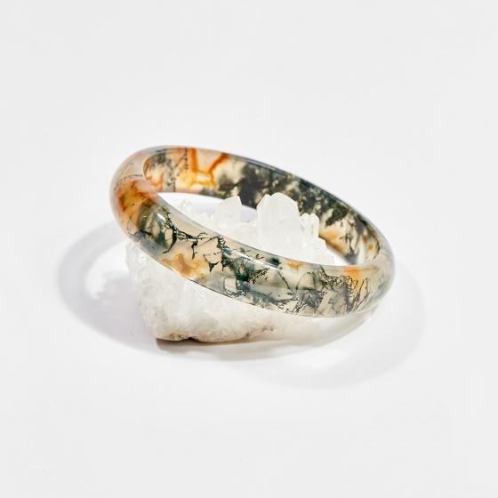 Vòng tay phong thủy băng ngọc thủy tảo huyết 5.5cm mệnh hỏa, mộc, thổ - Ngọc Quý Gemstones