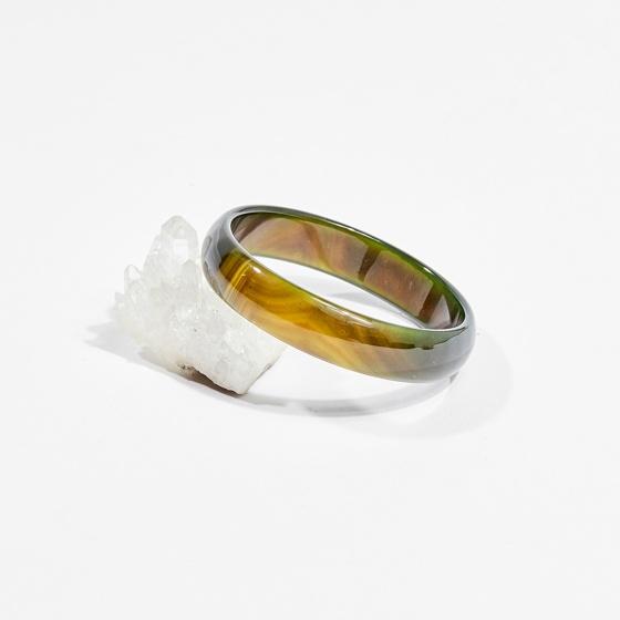 Vòng tay phong thủy đá mã não xanh 6cm mệnh hỏa, mộc - Ngọc Quý Gemstones