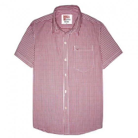 Áo sơ mi nam ngắn tay thêu logo sắc xảo, 65% cotton - combo 2 áo tặng 1 quần lót nam - SNCB202