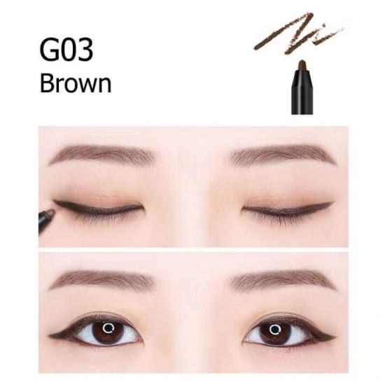 Chì kẻ mắt không Trôi Shiny Long Hàn Quốc G03 (Brown)