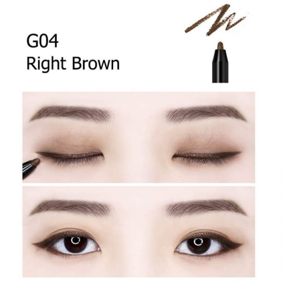 Chì kẻ mắt không trôi dạng Gel Shiny Long G04 (Right Brown)