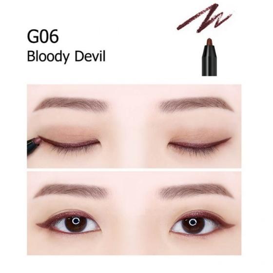 Chì kẻ mắt không trôi Shiny Long Hàn Quốc Màu G06 Bloody Devil