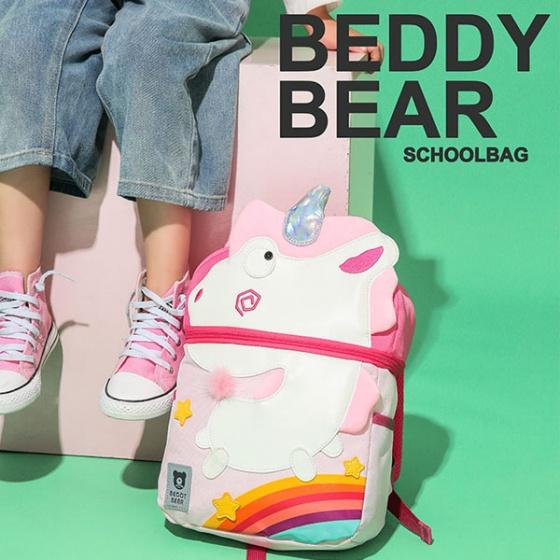 Balo BeddyBear-hồng- họa tiết kỳ lân-BJX-YE-002-KYLAN
