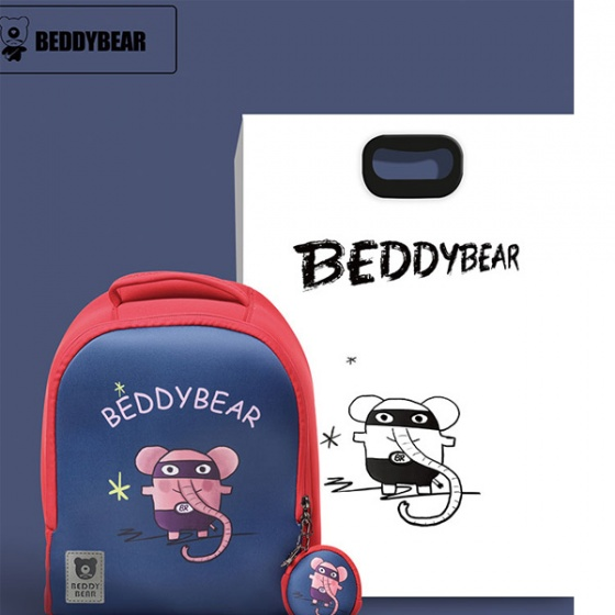 Balo BeddyBear Superman-đỏ xanh - họa tiết con voi