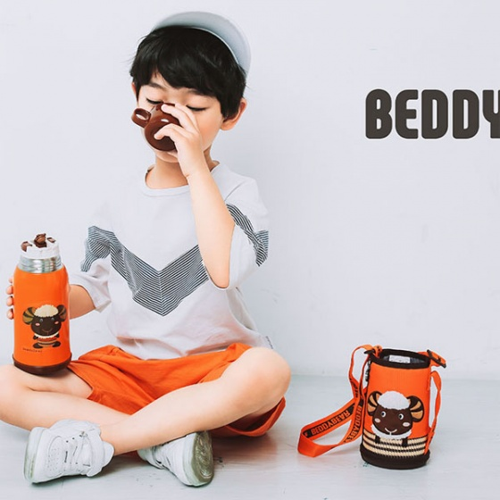 Bình giữ nhiệt BeddyBear-630ml-cam-họa tiết con cừu-RT101-630-CUU