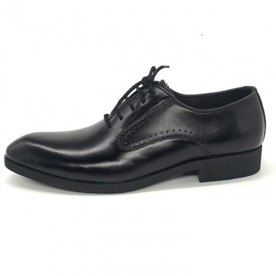 Giày tây buộc dây nam da bò cao cấp Lucacy N203B