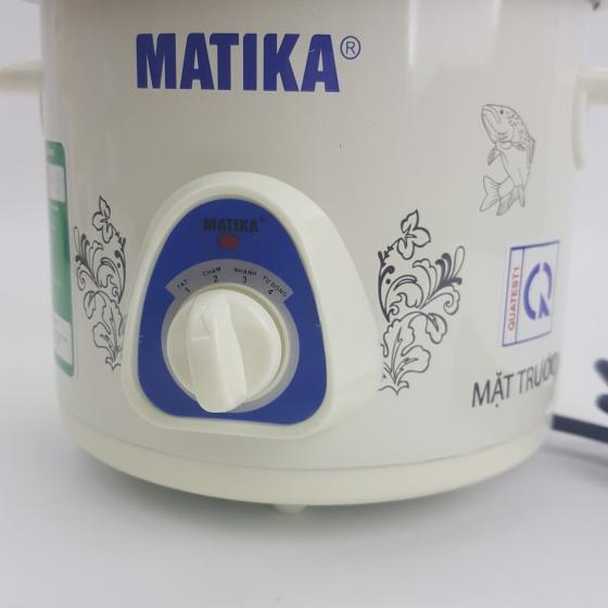 Nồi nấu chậm, nồi tiềm, nồi kho cá Matika MTK-9115 1,5 lít