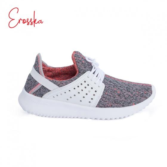 Giày nữ, giày thể thao sneaker Erosska năng động cá tính siêu nhẹ thoáng khí - ZR013 (WH)