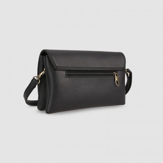 Túi đeo chéo nữ dáng chữ nhật nắp gập Idigo FB2-380-00