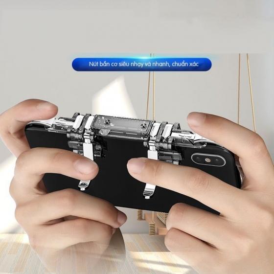 Nút bắn chơi game PUBG, Rules Of Survival bằng kim loại 6 nút Promax K19