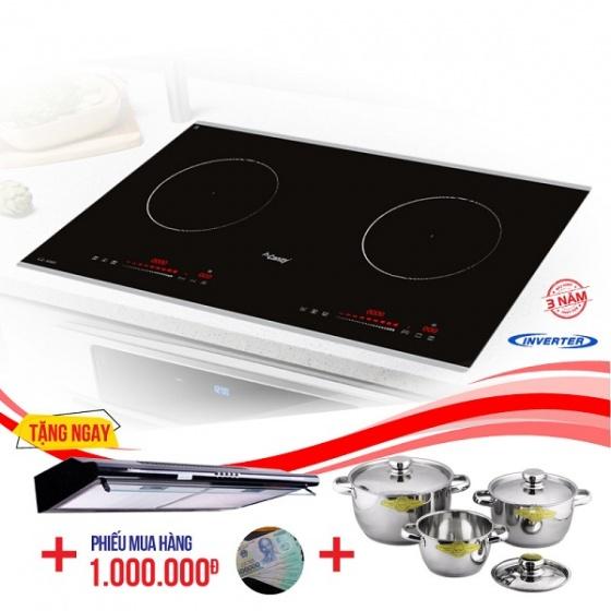 Bếp từ đôi cảm ứng CANZY CZ-930I tặng hút mùi bộ nồi nhà bếp cao cấp Fivestar
