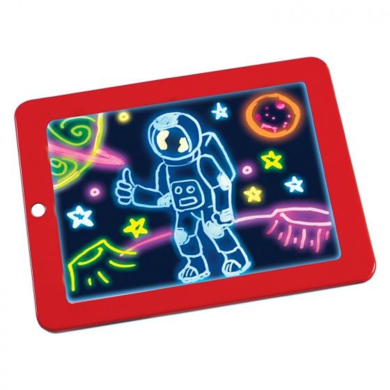 Bảng nam châm cho bé có đèn LED phát sáng nhiều màu (Viết, vẽ, học đếm) Magic Pad Promax MAPA MC12