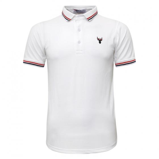 Bộ 3 áo thun nam cổ bẻ logo ép 3D chuẩn phong độ Pigofashion AHT16 xanh đen, trắng, xanh bích