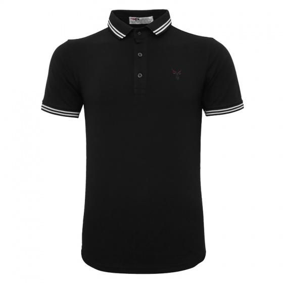 Bộ 3 áo thun nam cổ bẻ logo ép 3D chuẩn phong độ Pigofashion AHT16 đỏ, xám, đen