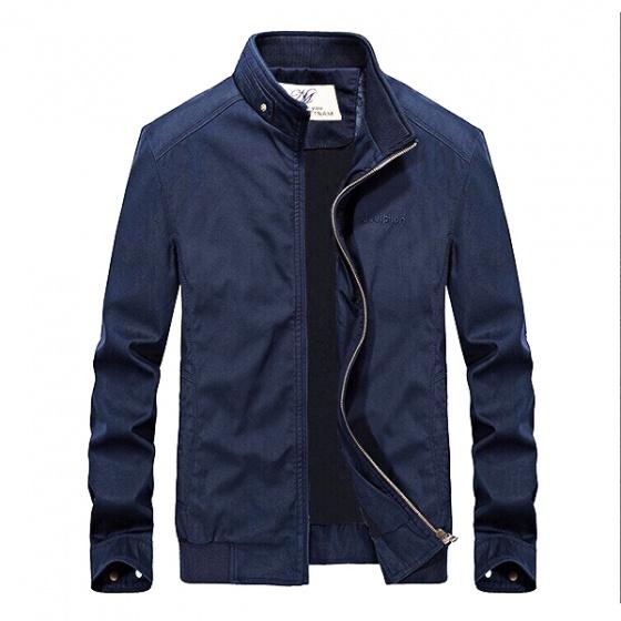 Áo khoác kaki nam cao cấp dáng áo đứng, phù hợp nhiều phong cách kvnthue01 (chọn màu: kem, xanh đen, xanh rêu)