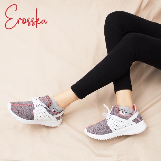 Giày nữ, giày thể thao sneaker Erosska năng động cá tính siêu nhẹ thoáng khí - ZR013 (BA)