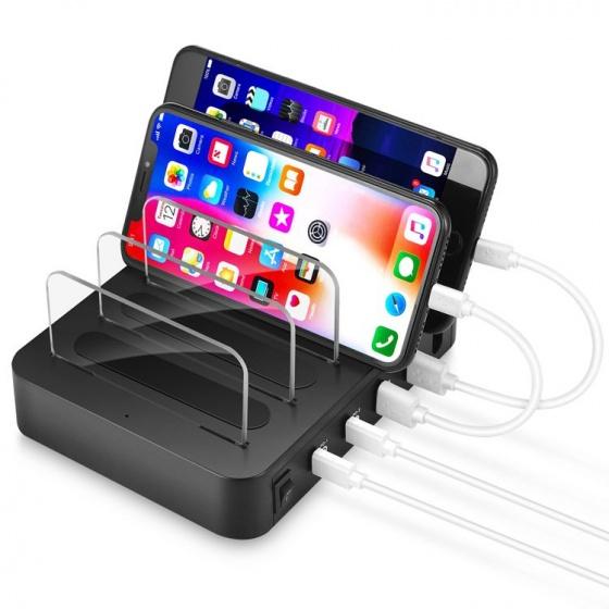 Dock sạc nhiều cổng USB tích hợp giá đỡ sạc được cho Macbook Aturos 016PD