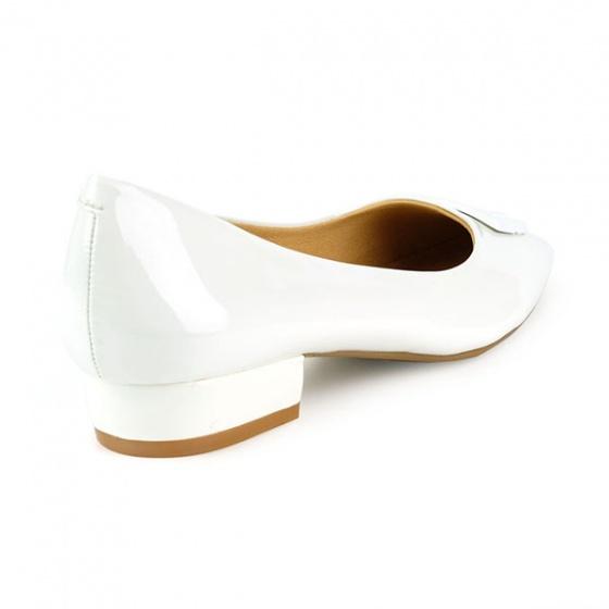 Giày búp bê êm chân Sunday BB33 màu trắng