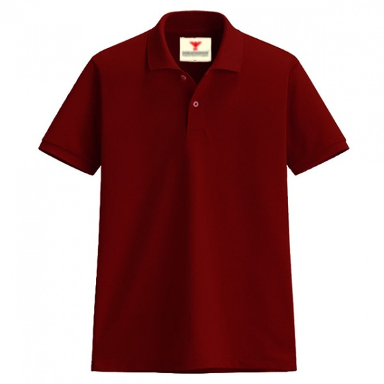 Áo thun nam cổ bẻ vải cá sấu cao cấp dokafashion (đỏ đô)