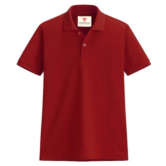 Áo thun nam cổ bẻ vải cá sấu cao cấp dokafashion (đỏ tươi)