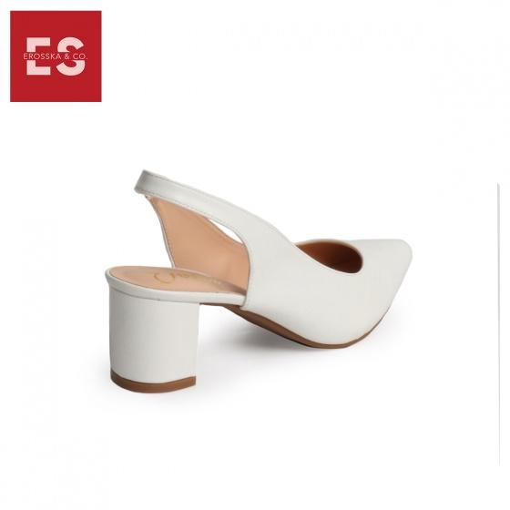 Giày nữ, giày cao gót slingback erosska thời trang nữ kiểu dáng basic  EH015 (màu nâu)