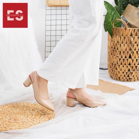 Giày nữ, giày cao gót slingback erosska thời trang nữ kiểu dáng basic EH015 (màu đen)