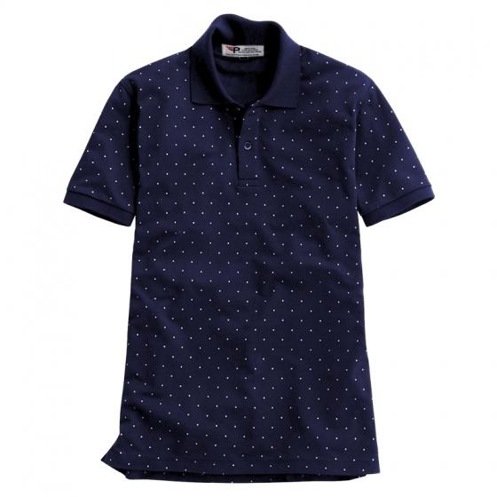 Bộ 3 áo thun nam cổ bẻ chấm bi họa tiết in cao cấp phong cách AHT18 đen, xám, xanh đen