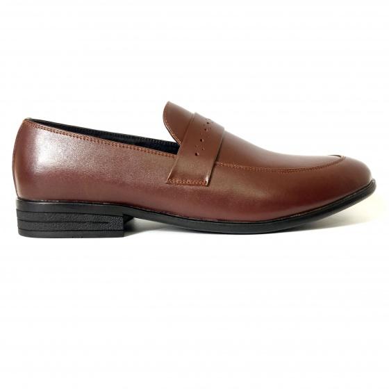 Giày lười nam da bò thật cán bóng DO8 Geleli