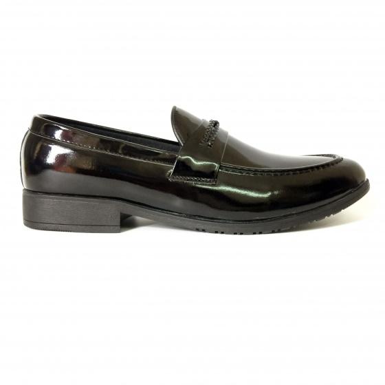 Giày lười nam da bò thật cán bóng DO6 Geleli