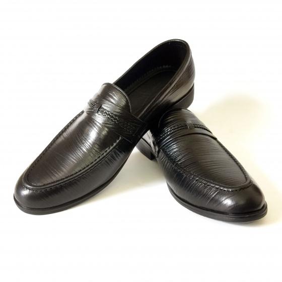Giày lười nam da bò thật cán bóng DO7 Geleli