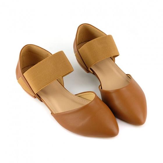 Giày búp bê êm chân Sunday BB21 màu nâu