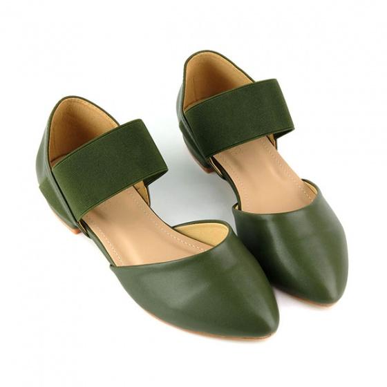 Giày búp bê êm chân Sunday BB21 màu xanh rêu
